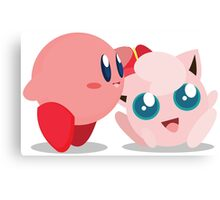 "Kirby and Jigglypuff ""Best Buds"" Vector Canvas Print"