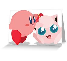"Kirby and Jigglypuff ""Best Buds"" Vector Greeting Card"