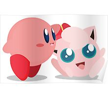 "Kirby and Jigglypuff ""Best Buds"" Vector Poster"