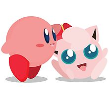 "Kirby and Jigglypuff ""Best Buds"" Vector Photographic Print"