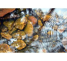 Ripples and reflections Photographic Print