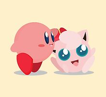 "Kirby and Jigglypuff ""Best Buds"" Vector by ViralDrone"