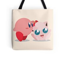 "Kirby and Jigglypuff ""Best Buds"" Vector Tote Bag"