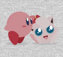 "Kirby and Jigglypuff ""Best Buds"" Vector Kids Clothes"