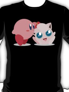 "Kirby and Jigglypuff ""Best Buds"" Vector T-Shirt"