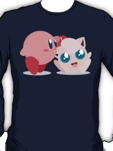 "Kirby and Jigglypuff ""Best Buds"" Vector T-Shirt"