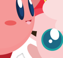 "Kirby and Jigglypuff ""Best Buds"" Vector Sticker"