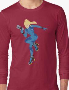 Zero Suit Samus Vector Long Sleeve T-Shirt