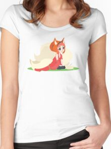 Kitsune Vector Women's Fitted Scoop T-Shirt
