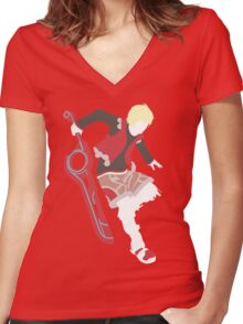 Shulk Vector Women's Fitted V-Neck T-Shirt