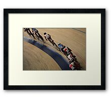 Cycle race  Framed Print