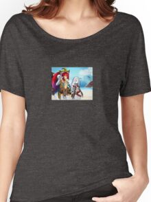 Anime cat-girls on beach. Women's Relaxed Fit T-Shirt