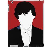 BBC Sherlock: Let's Play Murder Silhouette bloodred iPad Case/Skin