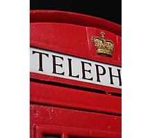 london red phone booth Photographic Print