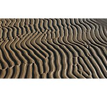 sand abstract pattern  Photographic Print