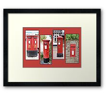 Small town post boxes Framed Print