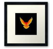 Phoenix : Fire Bird Flame Minimalist Mythology Design Framed Print