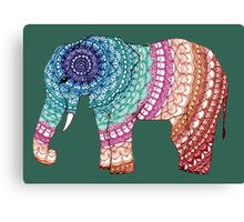 Mandala Elephant Canvas Print