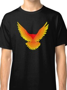 Phoenix : Fire Bird Flame Minimalist Mythology Design Classic T-Shirt