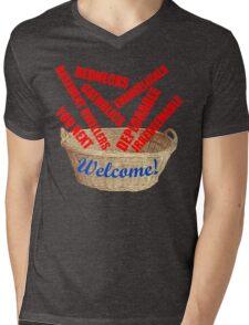 Welcome Basket Of Deplorables Catholics Rednecks Mens V-Neck T-Shirt