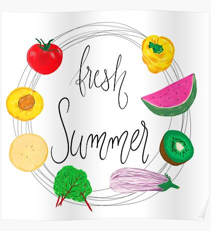 Fresh Summer - Erfolgreich Illustrator Poster