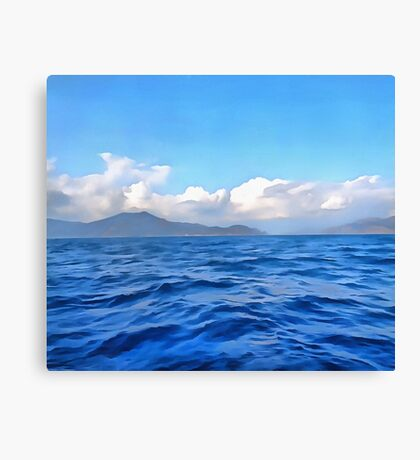 Aegean Blue Canvas Print