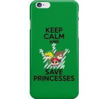 Keep calm and save princesses iPhone Case/Skin