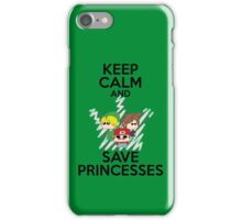 Keep calm and save princesses iPhone Case/Skin