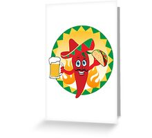 Mexican red chili pepper Greeting Card
