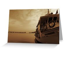 Dreaming on the Harbor Greeting Card