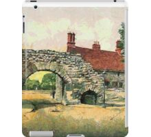 A digital painting of theNewport Arch, Lincoln, England 3rd century CE iPad Case/Skin