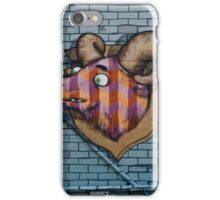 Ram mural graffity on the textured wall iPhone Case/Skin
