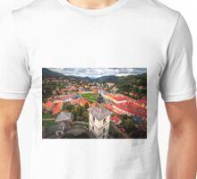 Beautiful view of ancient Kremnica from the observation tower Unisex T-Shirt