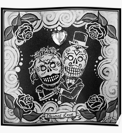 Eternal Love Skelly Couple Poster