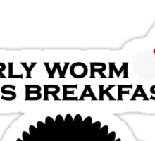 The Early Worm Sticker