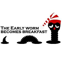 The Early Worm Photographic Print