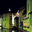 Annecy by night by heinrich