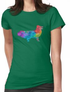 Shetland Seepdog in watercolor Womens Fitted T-Shirt
