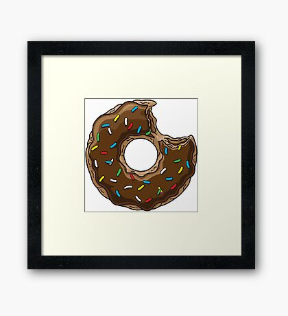 You can't buy happiness, but you can buy chocolate DONUTS. Framed Print