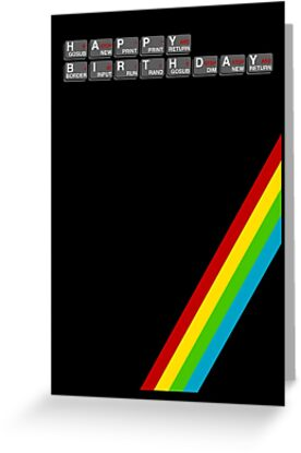 Sinclair Spectrum Birthday Card by Paulychilds