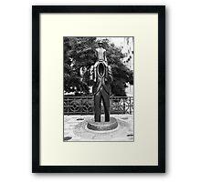 Franz Kafka Statue Framed Print