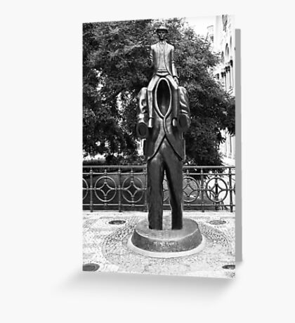 Franz Kafka Statue Greeting Card
