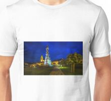 The Central Square Stefanikovo Namestie of Kremnica at night Unisex T-Shirt