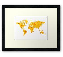 Cheese World Map Prins, T-Shirts,  iPone Case iPad Case / Samsung Galaxy Case / Mug  Framed Print