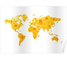 Cheese World Map Prins, T-Shirts,  iPone Case iPad Case / Samsung Galaxy Case / Mug  Poster