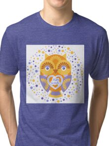 Happy Birthday Owl Tri-blend T-Shirt