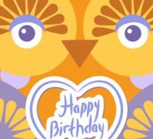 Happy Birthday Owl Sticker