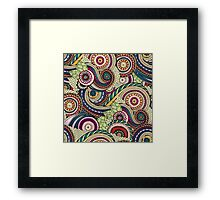 Abstract doodle floral pattern Framed Print
