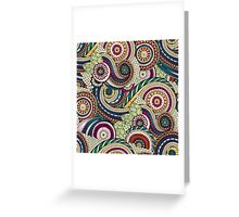 Abstract doodle floral pattern Greeting Card