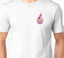 Cherry Cupcake with Candle Unisex T-Shirt